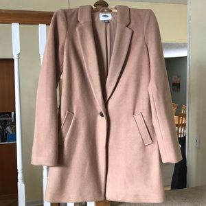 Camel one-button Coat NWT Size Medium TALL